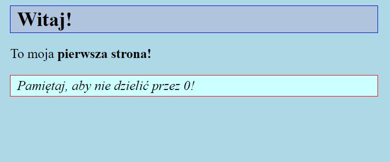 Przykladowa strona HTML z CSS
