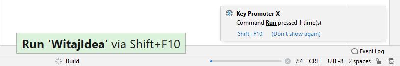 Informacje wyświetlane przez pluginy Presentation Assistant (po lewej) i Key Promoter X