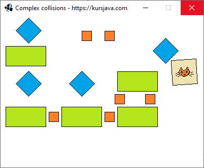 Przykład programu stosującego złożone wykrywanie kolizji